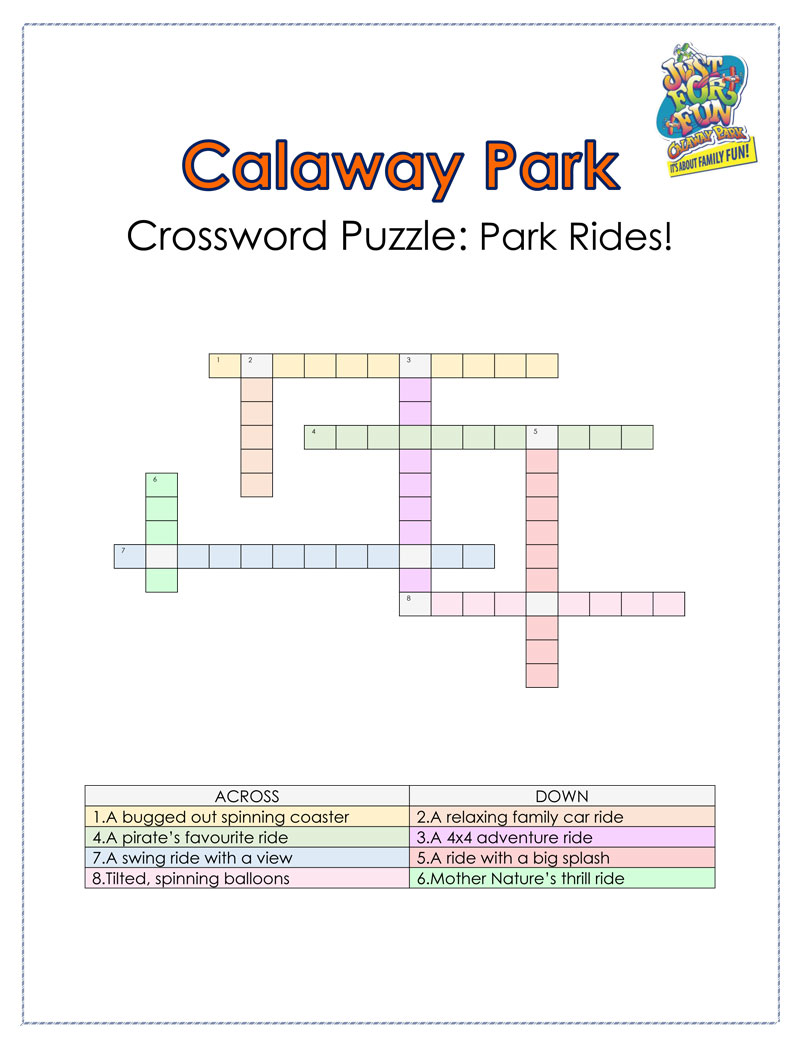 Calaway Park Crossword Puzzle