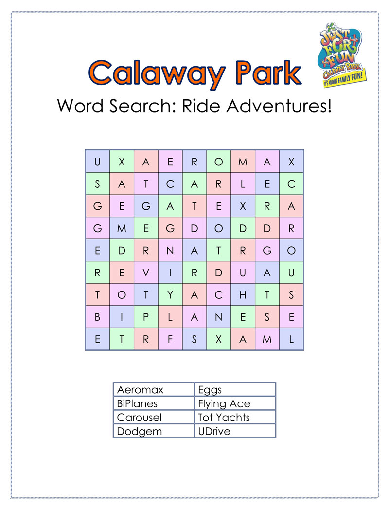 Calaway Park Word Search