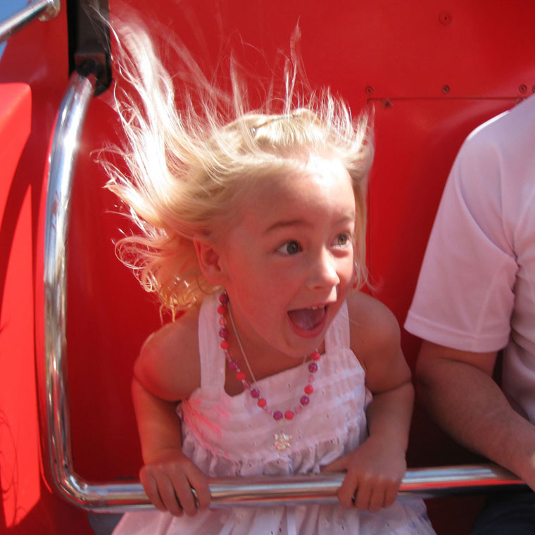 Girl on ride at Calaway Park