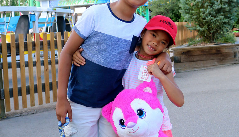 Brother and Sister enjoying Calaway Park