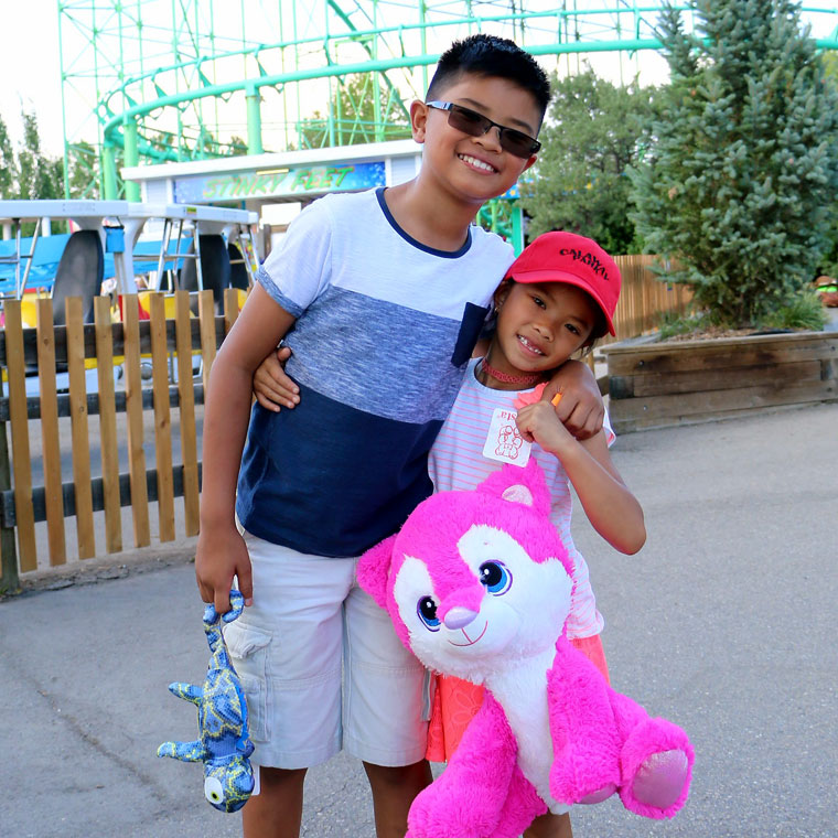 Brother and Sister enjoying Calaway Park